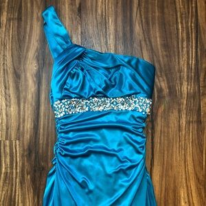City Studio Turquoise Formal Dress